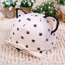 Load image into Gallery viewer, Cat Clothes for Babies, Cat Ears Cartoon Baseball Hat
