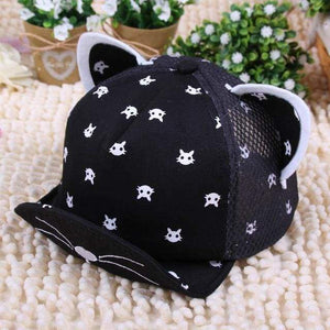 Clothes with Cats on Them, Cat Ears Cartoon Baseball Hat