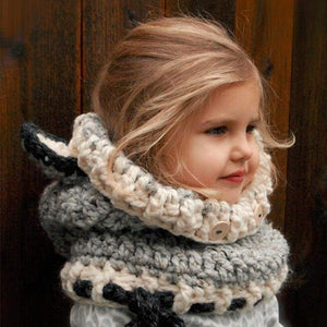 Cat Themed Clothes for Kids, Cat Ears Beanie and Scarf Set