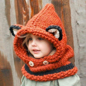 Hats with Ears for Kids, Cat Ears Beanie and Scarf Set