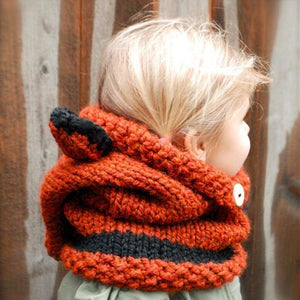 Ear Hats for Kids, Cat Ears Beanie and Scarf Set