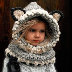 Cat Clothes for Kids, Cat Ears Beanie and Scarf Set