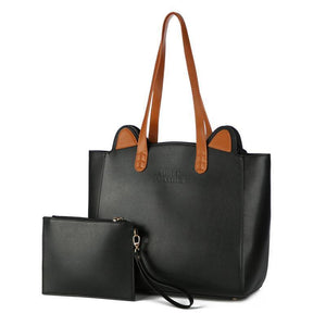 This cat ears tote is made of high-quality faux leather and is the perfect bag for cat lovers.