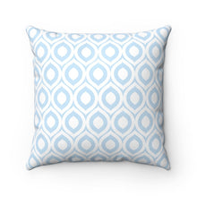 Load image into Gallery viewer, The light blue and white argyle pattern make this pillow not only a fun cat decoration accent, but also easy to match with your home decor.