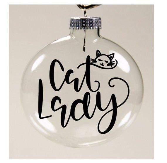 Cat Lady Christmas Gifts, Cat Christmas Decorations, Cat Lady Christmas Ornament