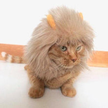 Load image into Gallery viewer, Funny Costumes for Cats, Handmade Cat Lion Hat with an Adjustable Velcro Strap