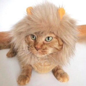 Lion Mane for Cat, Handmade Cat Lion Costume with an Adjustable Velcro Strap