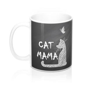 Pick up this Cat Mama mug for a one of a kind addition to your mugs with cats on collection.