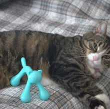 Load image into Gallery viewer, Funny Cat Gifts for cat Lovers, Blue Cat Shaped Massager