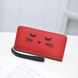 For a cat themed accessory you'll love showing off, pick up this adorable cat wallet!
