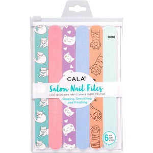 Cat Stuff For Cat Lovers, Cat Print Nail Files In A Set of 6