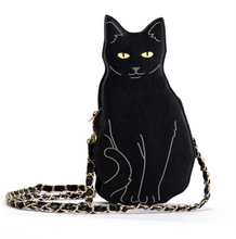 Load image into Gallery viewer, Black Cat Shaped Bag for Women Who Love Cats