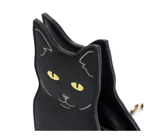 Load image into Gallery viewer, Cat Shaped Purse Made of Black PU Leather