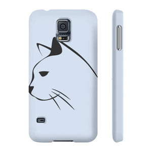 Cat phone case with a one of a kind black cat decoration.