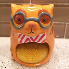 Load image into Gallery viewer, Cat Kitchen Decor, Cute Cat Sponge Holder Made of Porcelain
