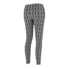 Load image into Gallery viewer, Clothes With Cats On Them, Cats With Glasses Leggings Made from a Soft Grey Fabric