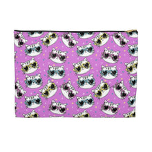 Load image into Gallery viewer, Cat Themed Gifts for Women, Cute Cat Makeup Bag Printed with Cats Wearing Sunglasses