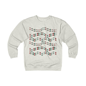 Pick this funny cat Christmas sweater for men as a unique Christmas gift for cat lovers. The cat sweater features red white and green cats.