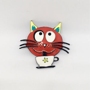 Cat Things for Cat Lovers, Cute Red Cat Pin for Cat Ladies