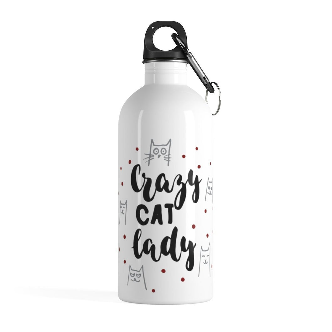 If you're looking for fun things for cat lovers, pick up this cat water bottle featuring the print