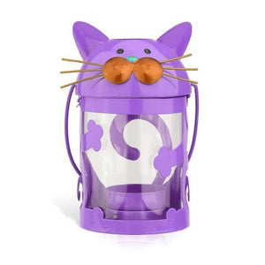 Cat Decorations for Home, Cat Shaped Candle Holder Made of Painted Iron and Featuring Cute Cat Face and Whiskers