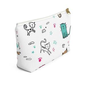 Clothes and Accessories for Cat Lovers, Cute Makeup Bag with Cat Print
