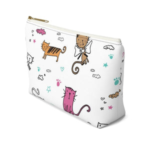 Cute Makeup Bag for Cat Lovers Featuring a Colorful Cat Print