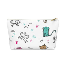 Load image into Gallery viewer, Cat Clothes and Accessories, Cat Makeup Bag with a Colorful Kitten Print