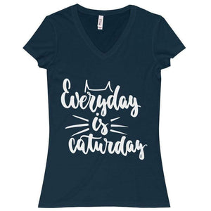 Funny Cat Shirt, Everyday Is Caturday T-Shirt Made from a Soft 100% Cotton Fabric