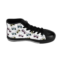 Load image into Gallery viewer, Cat Themed Shoes for Cat Ladies, Fancy Cat Sneakers Printed with Colorful Cats Wearing Glasses