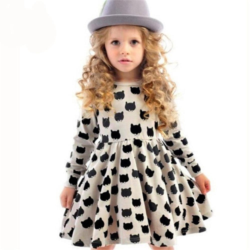 Cat Clothes for Kids, Fit and Flare Black Cat Dress