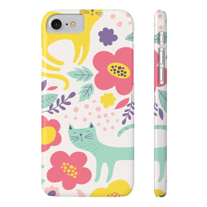 Cute Gifts for Cat Ladies, Cat Phone Case for iPhones with a Colorful Cat Print