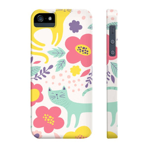 Cat iPhone Case Featuring a Unique and Colorful Cat Print