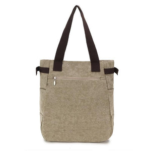 The Back of This Cat Tote Is Made of Sturdy Beige Canvas