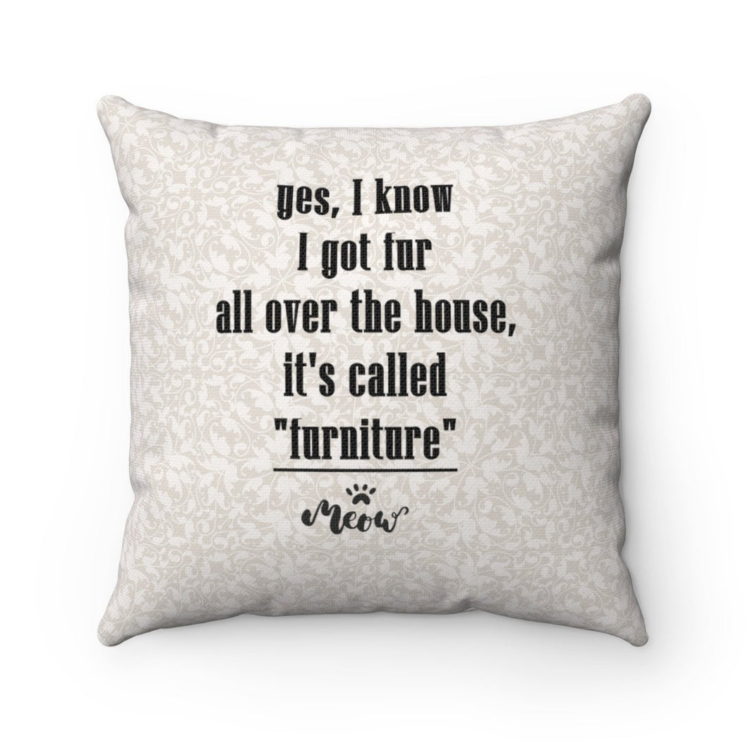 Hilarious Gifts for Cat Lovers, Funny Cat Pillow Featuring the Text