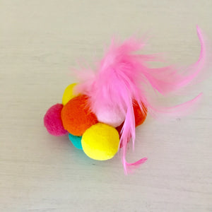 Cool Cat Toy with Felt Balls and Feathers
