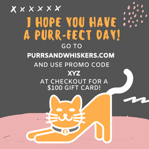 Cat Themed Gifts, $100 Gift Card for Cat Lovers