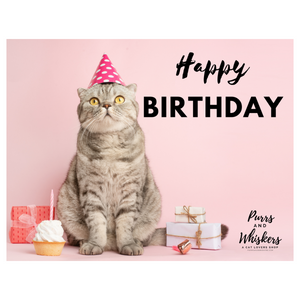 Birthday Gifts for Cat Lovers, $75 Cat Lover Gift Card