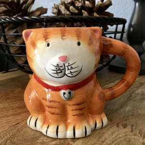 Cat Lover Mug Shaped as a Cat