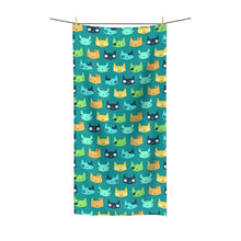 Load image into Gallery viewer, Cute cat themed towel for cat lovers, Happy Cat Towel