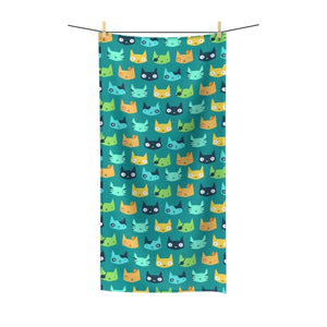 towel with cats on it, Happy Cat Towel
