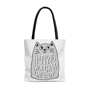 Crazy Cat Lady Gifts, Happy to Be a Crazy Cat Lady Tote Bag