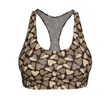 Load image into Gallery viewer, Leopard Print Sports Bras, Cute and Comfortable Sports Bras with a Heart-Shaped Animal Print Pattern