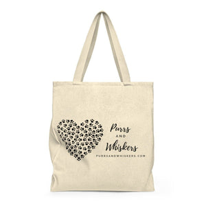 Cat Tote Bag, Purrs and Whiskers Cat Handbag