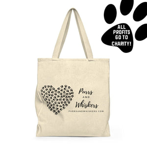 Cat Tote Bag, All Profits Go to Help Our Local Animal Center