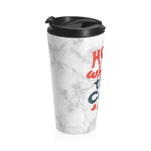 Cat Travel Mug for Cat Lovers, Home Is Where the Cat Is Travel Mug