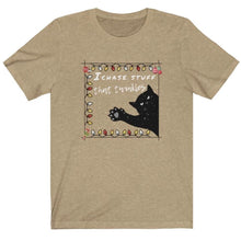 Load image into Gallery viewer, Cat Lover Christmas Gifts, I Like Stuff That Twinkles T-shirt with a Black Cat