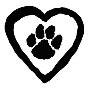 Cat Gifts for Cat Lovers, Heart and Paw Print Sticker for Your Car