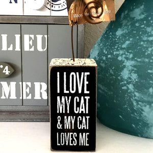 Funny Gifts for Cat Lovers, I Love My Cat Picture Holder