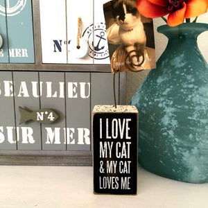 Unique Cat Gifts for Cat Lovers, I Love My Cat Picture Holder